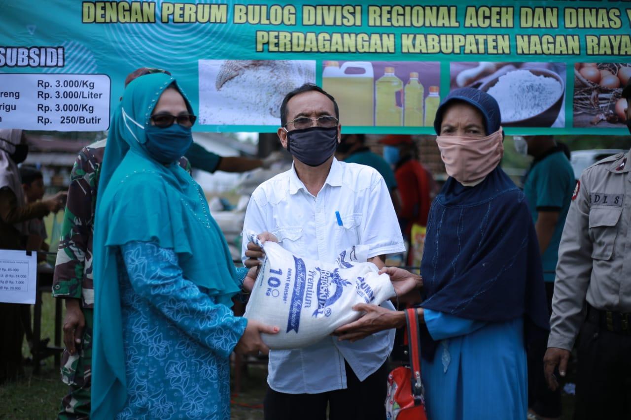 Ketua Dekranasda Nagan Raya Hj. Marwati Ibnu Ali [Foto : Ist]