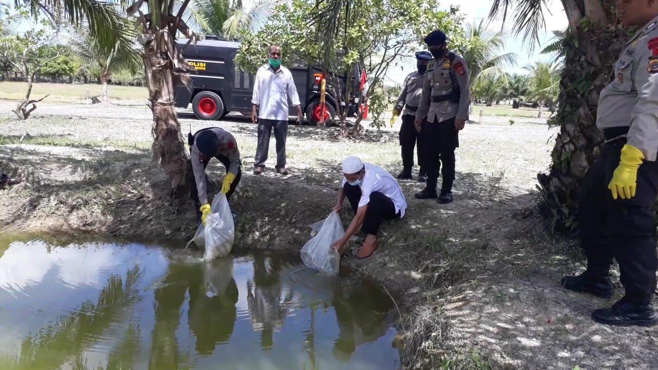 Dukung Ketahanan Pangan Brimob Nagan Raya Budidaya Ikan Nila