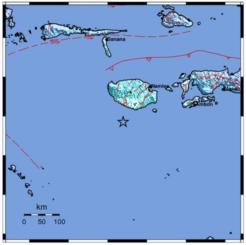 Kabupaten Buru Selatan Maluku Duguncang Gempa 5.8 M