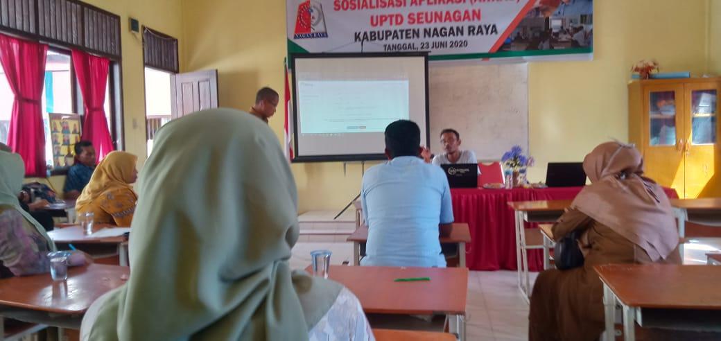 K3S UPTD Seunagan Sosialisasi Aplikasi Penyusunan RKAS BOS Online