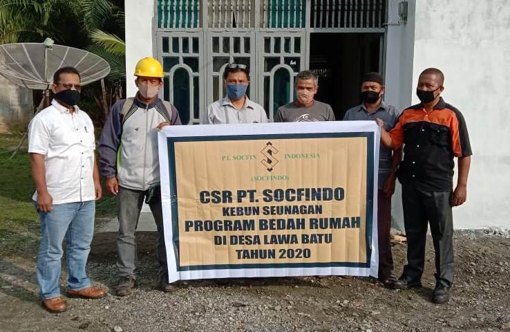 PT Scofindo Seunagan Bedah Rumah Warga Nagan Raya