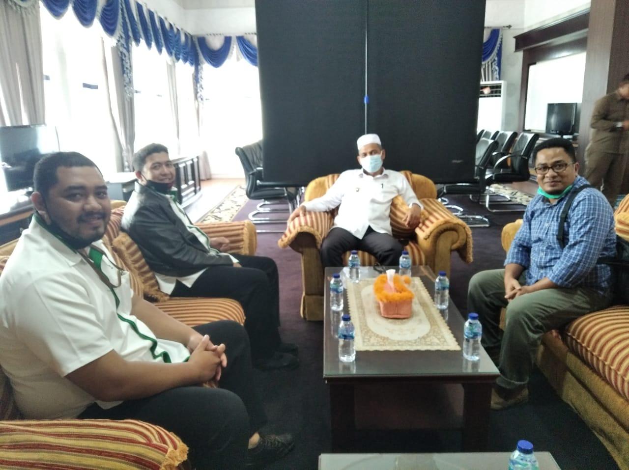 Pegadaian Syariah Meulaboh Audiensi dengan Bupati Nagan Raya