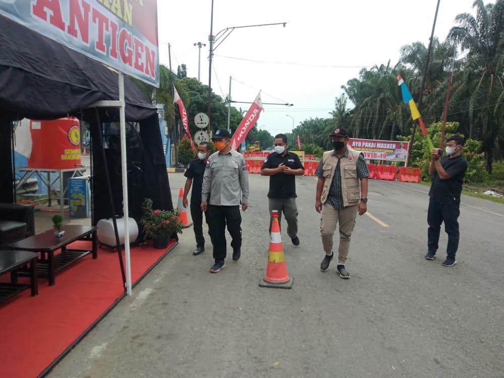 Jelang Hari Raya, Kalak BPBA Tinjau Pos Perbatasan Aceh Sumut di Aceh Tamiang
